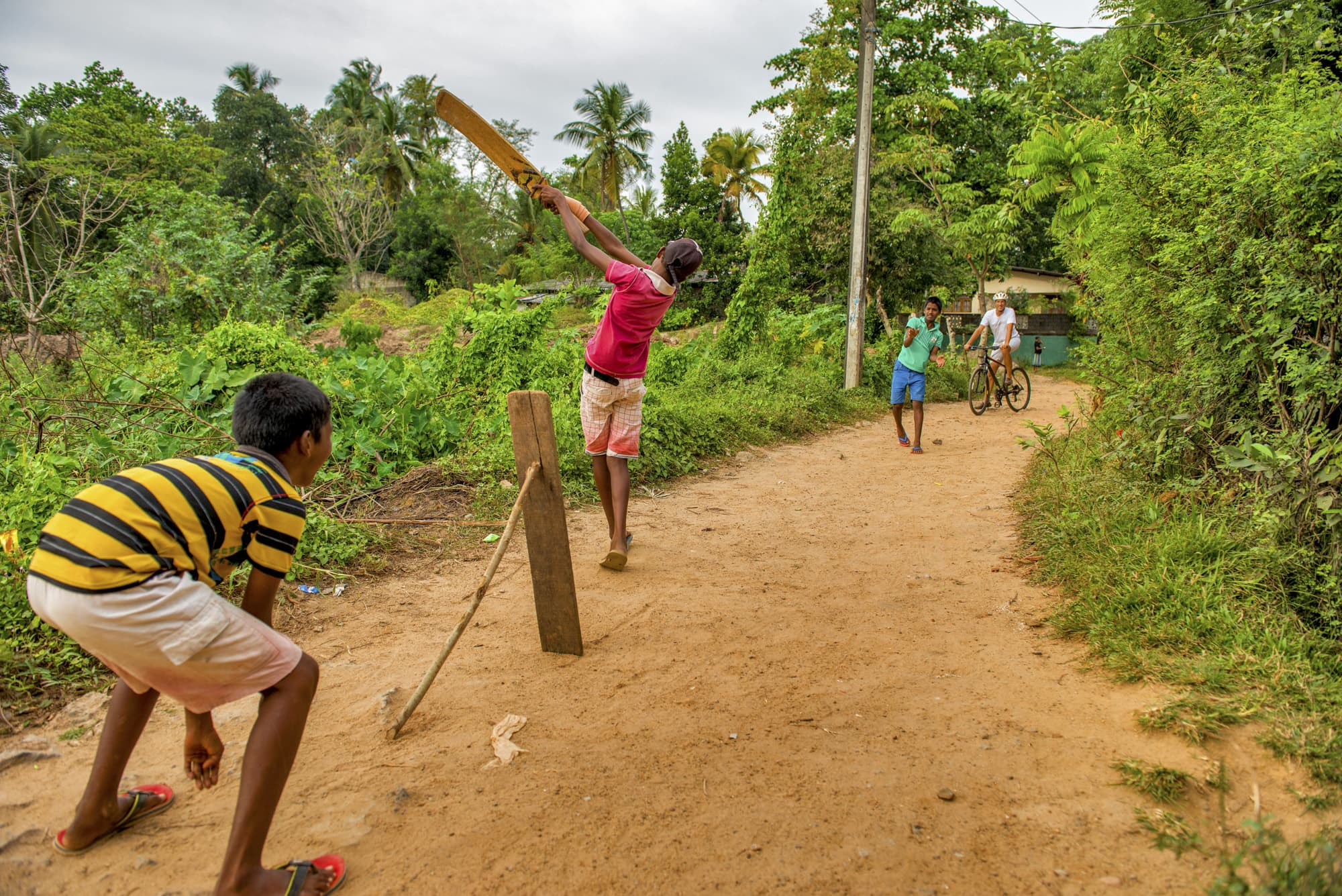 Cricket in Galle in Sri Lanka