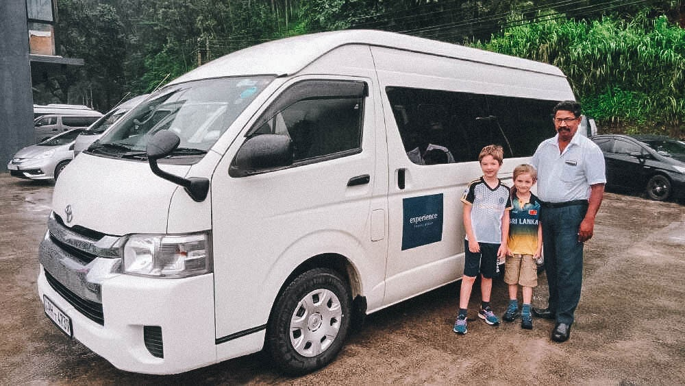Private transfer on family holiday Sri Lanka