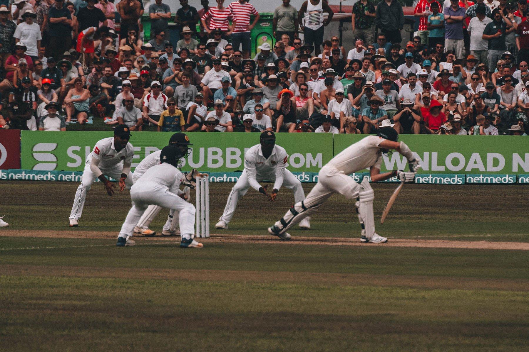 Cricket match in Sri Lanka
