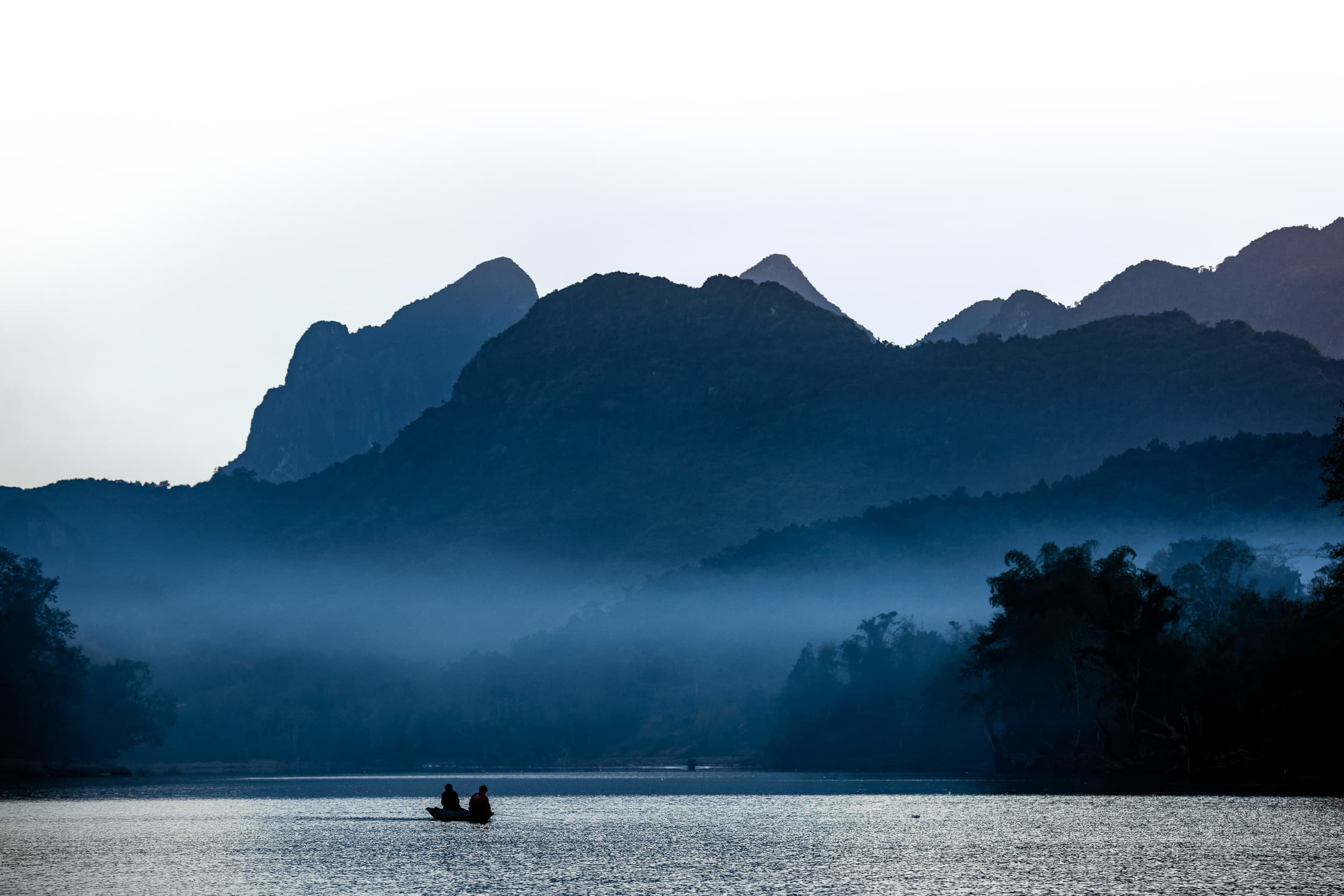 Nong Khiaw Riverside in Laos
