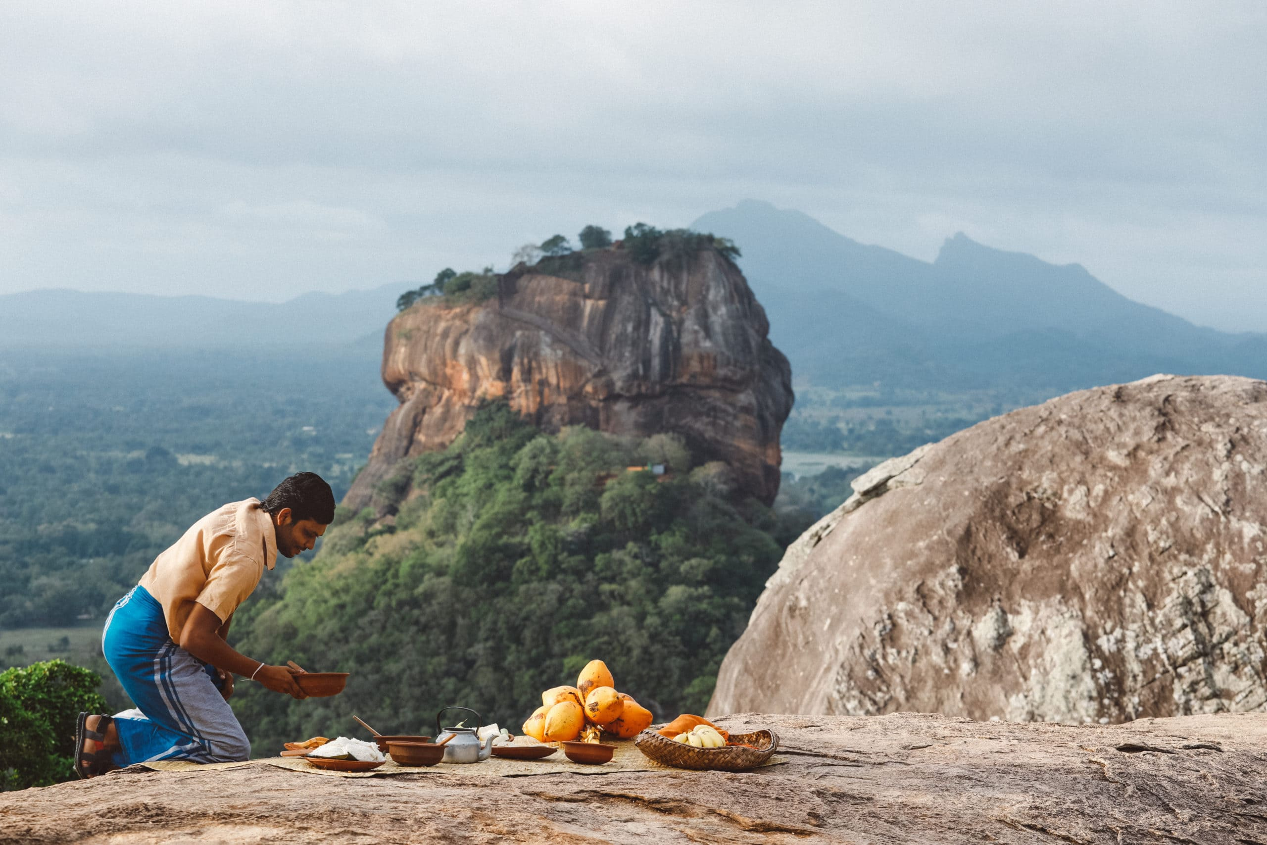 Pidurangala Rock with a view of Sigiriya