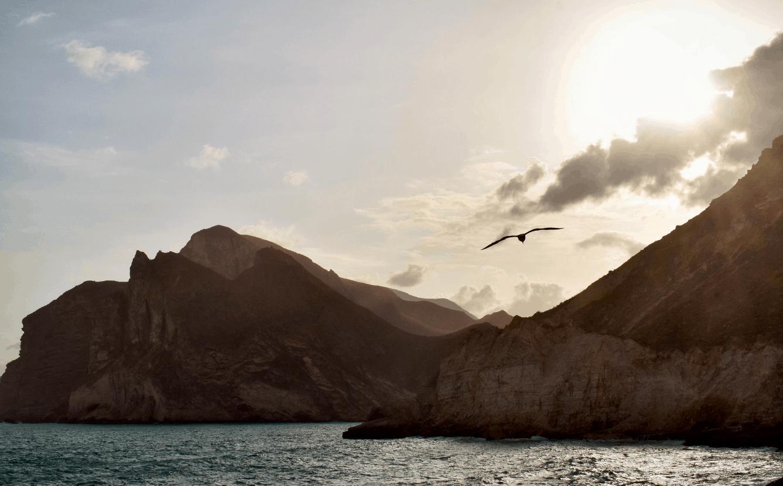 The beautiful, rugged landscape of the Musandam peninsula in north Oman