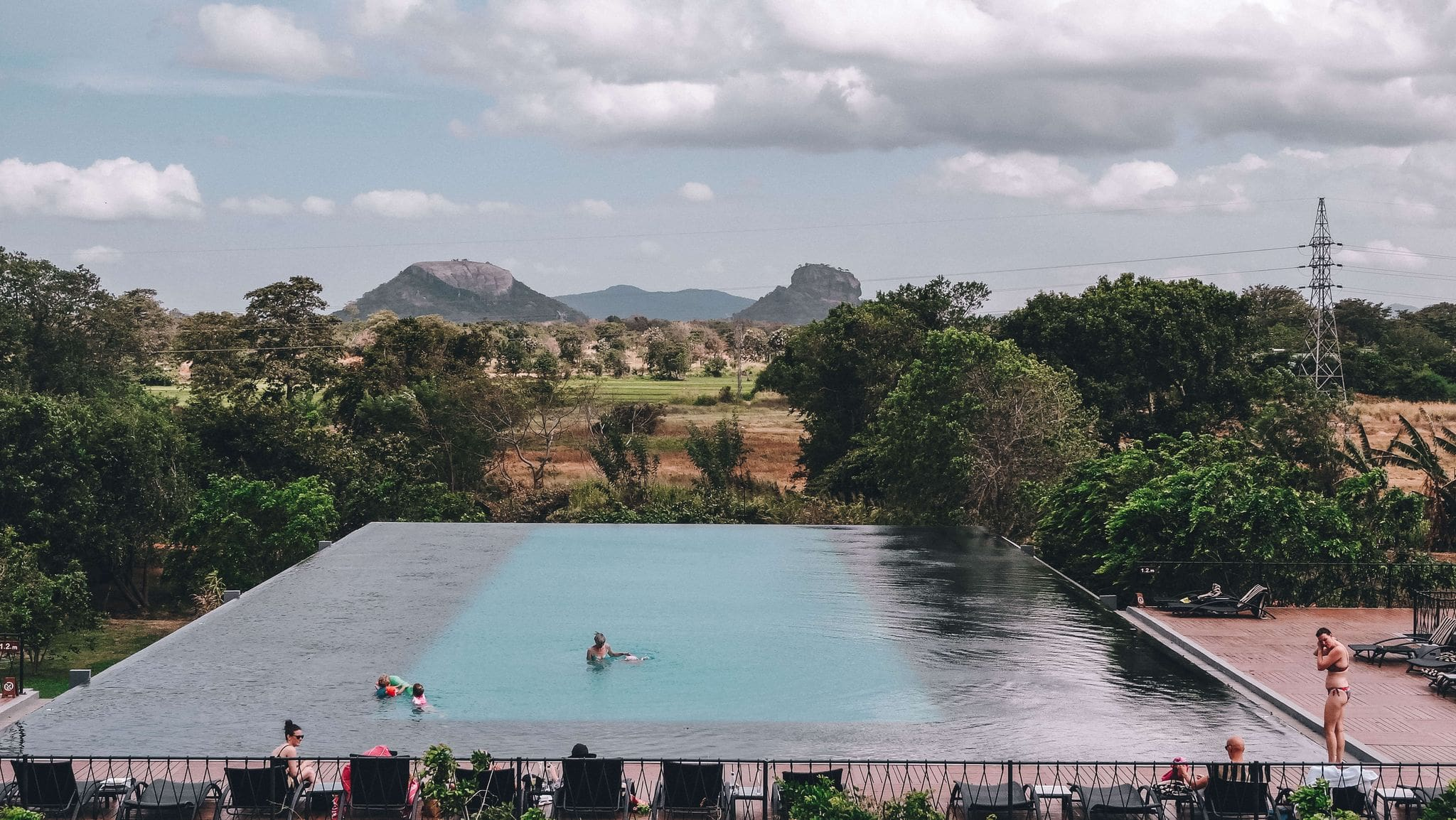 A Swimming Pool with a view in Sri Lanka