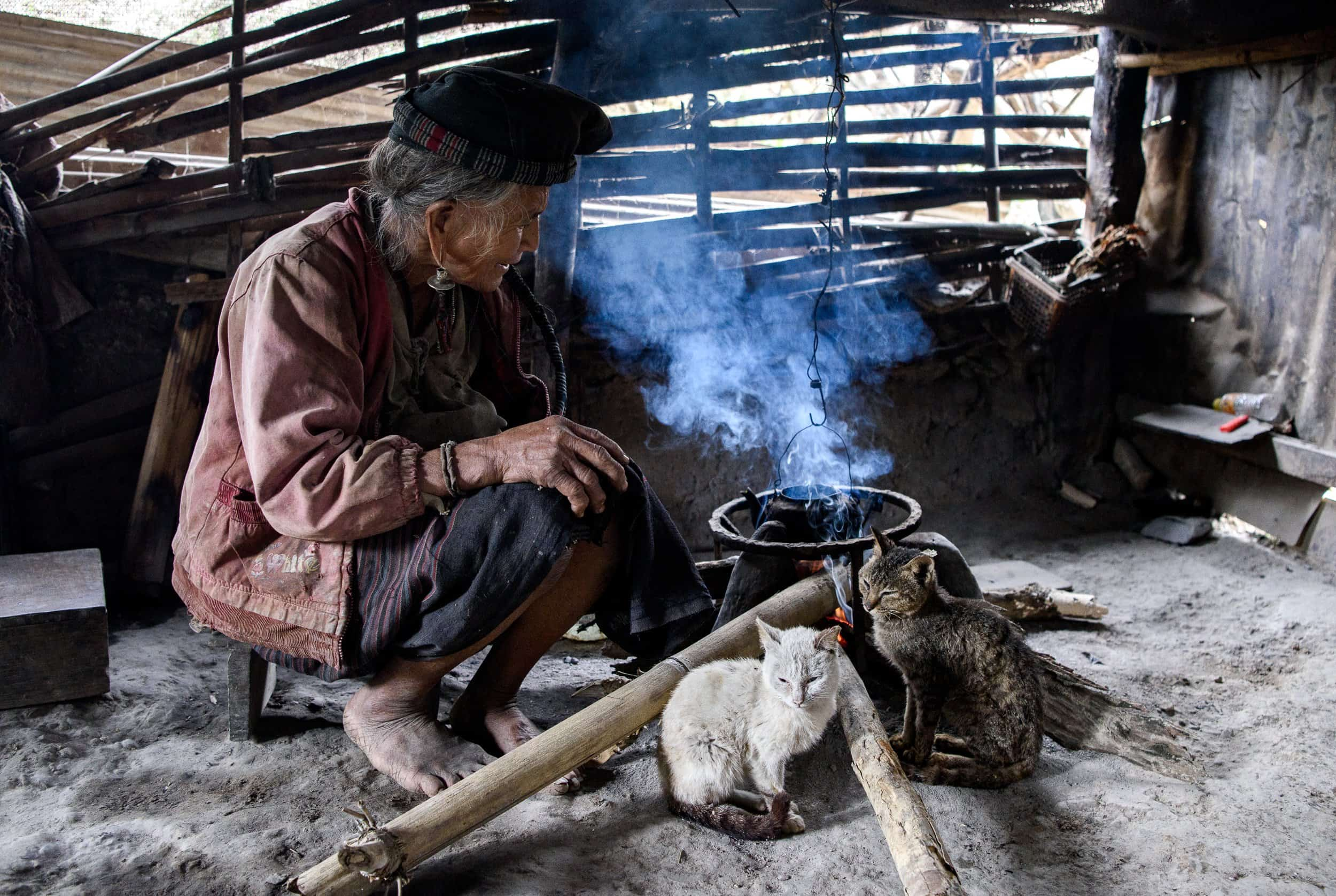 Cooking in Laos