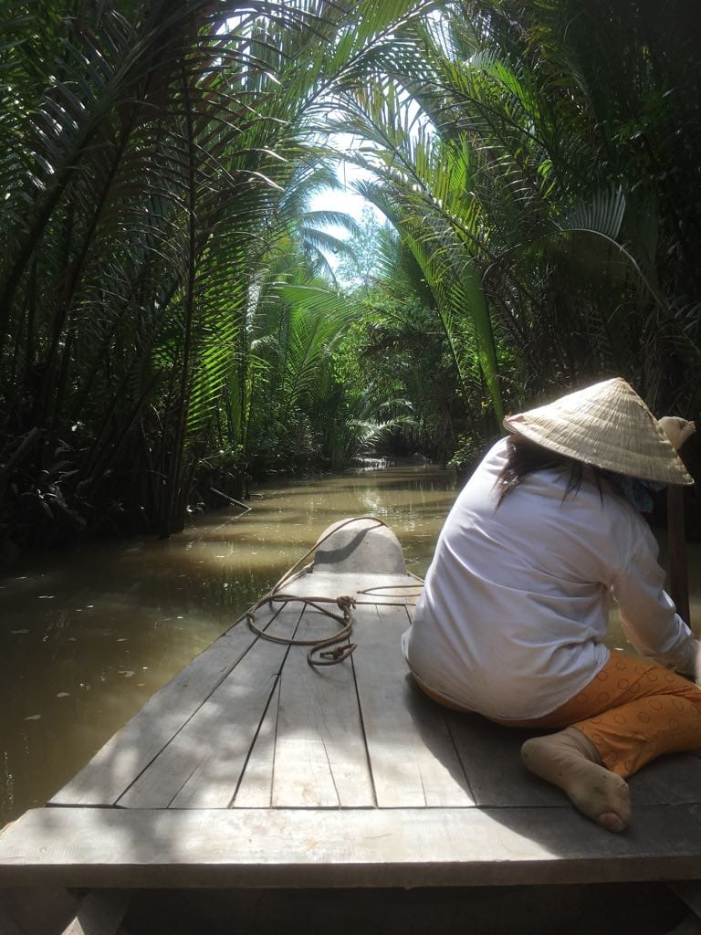 Narrow waterways of the Mekong Delta away from the crowds