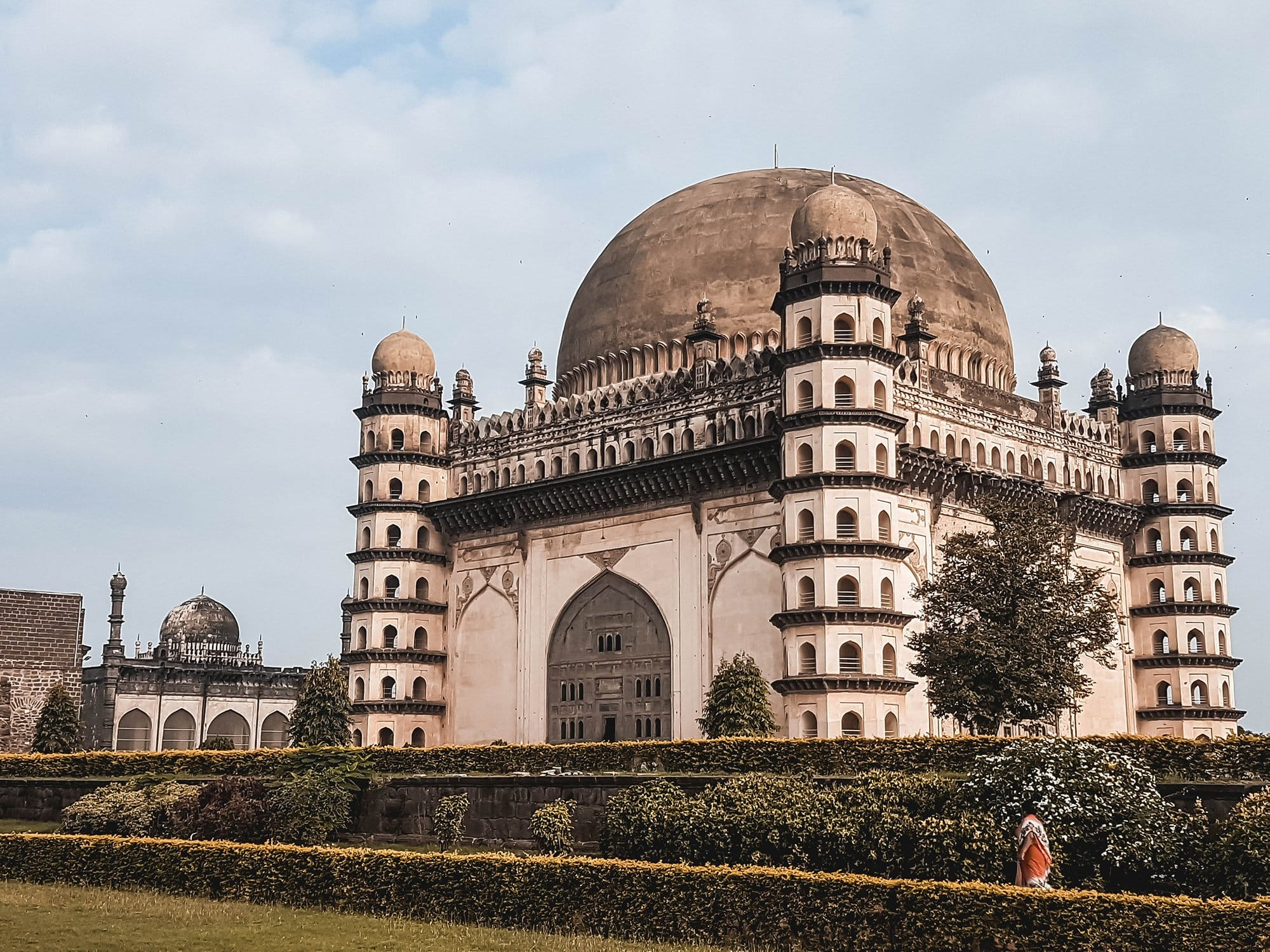 Gol Gumbaz in Bijapur is an example of Islamic architecture in the Deccan plateau in Karnataka