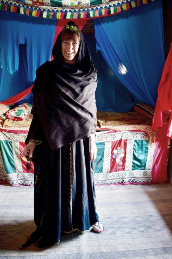 Curious Traveller wearing local dress in Oman