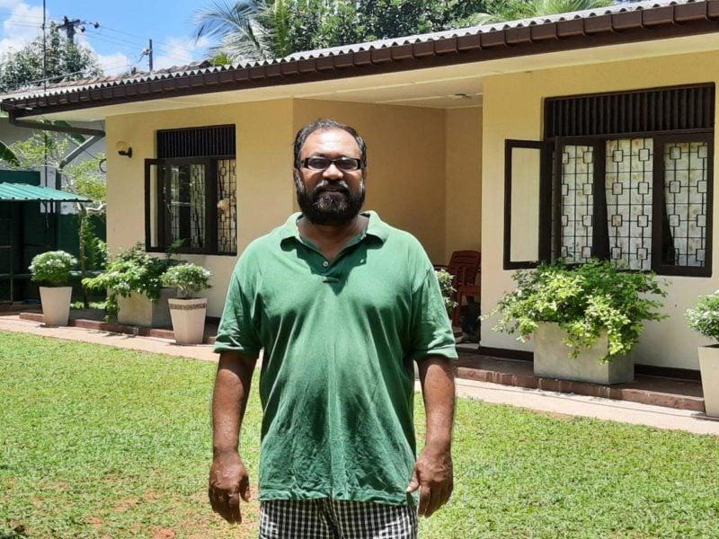 Chauffeur guide in his garden in Sri Lanka