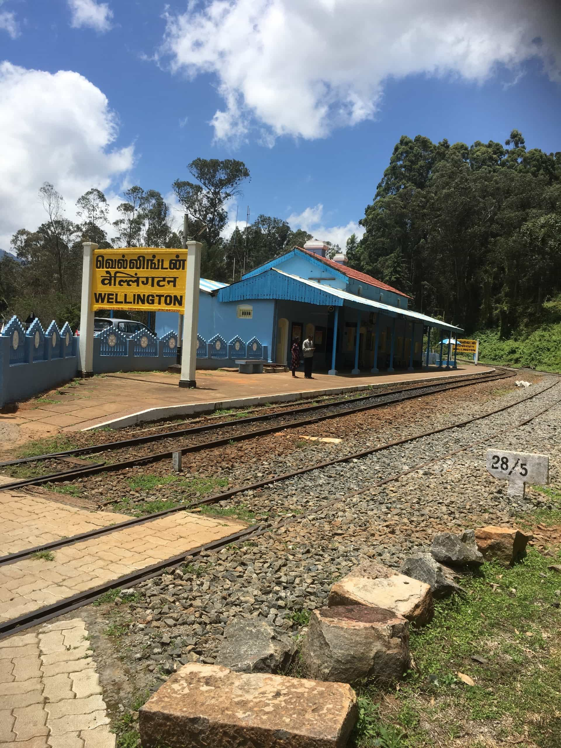 Wellington Station Tamil Nadu, part of the World Heritage Nilgiri Mountain Railway