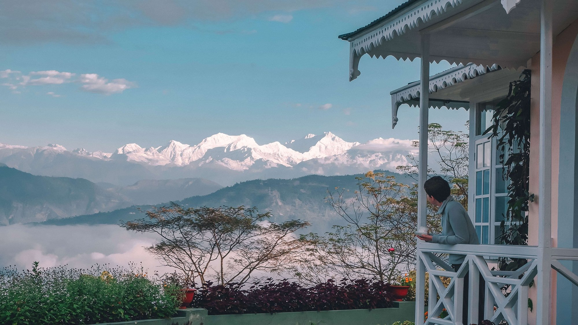 View of Kangchenjunga from Glenburn Tea Estate