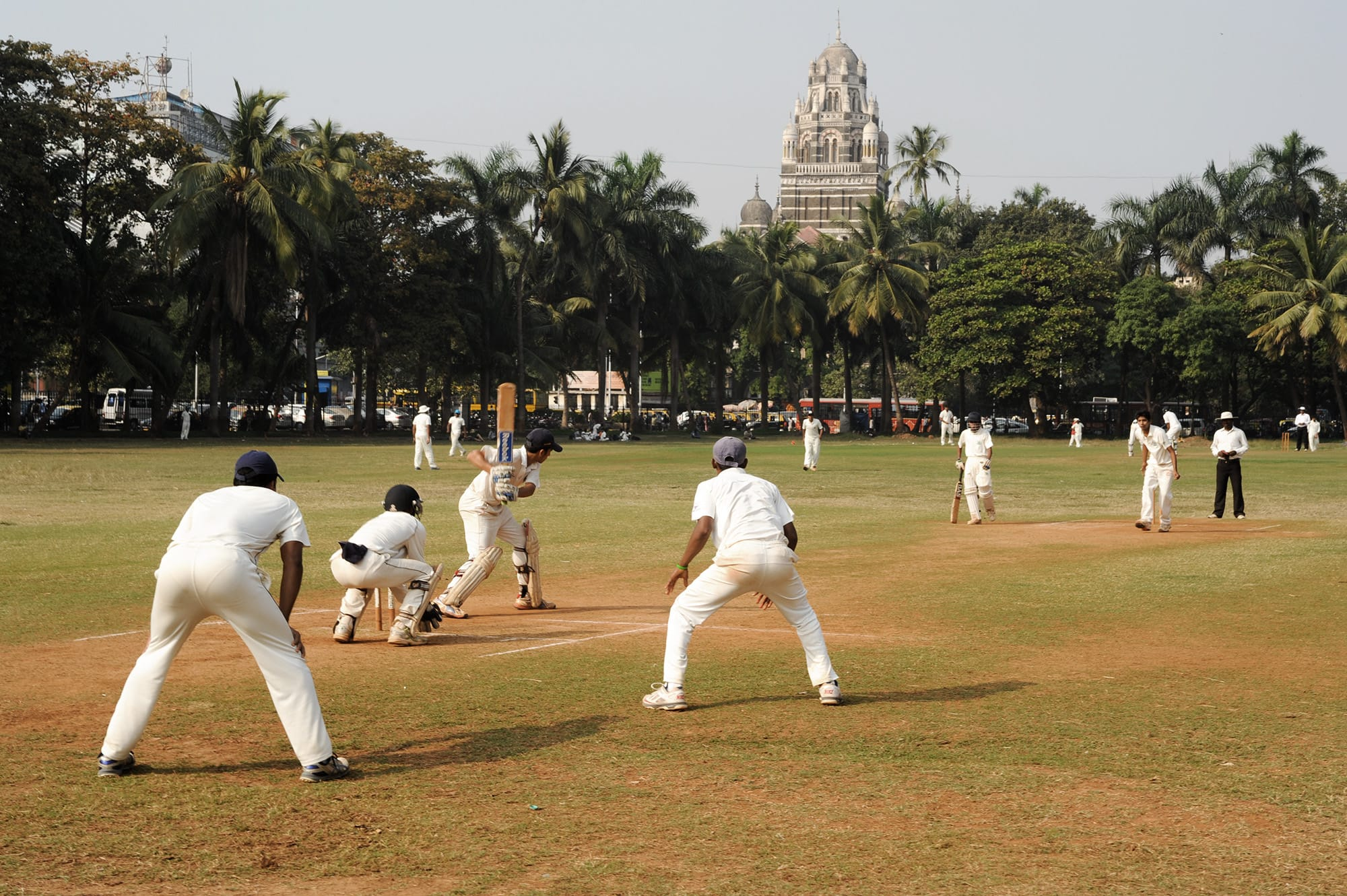 Cricket at the Maidan in Mumbai