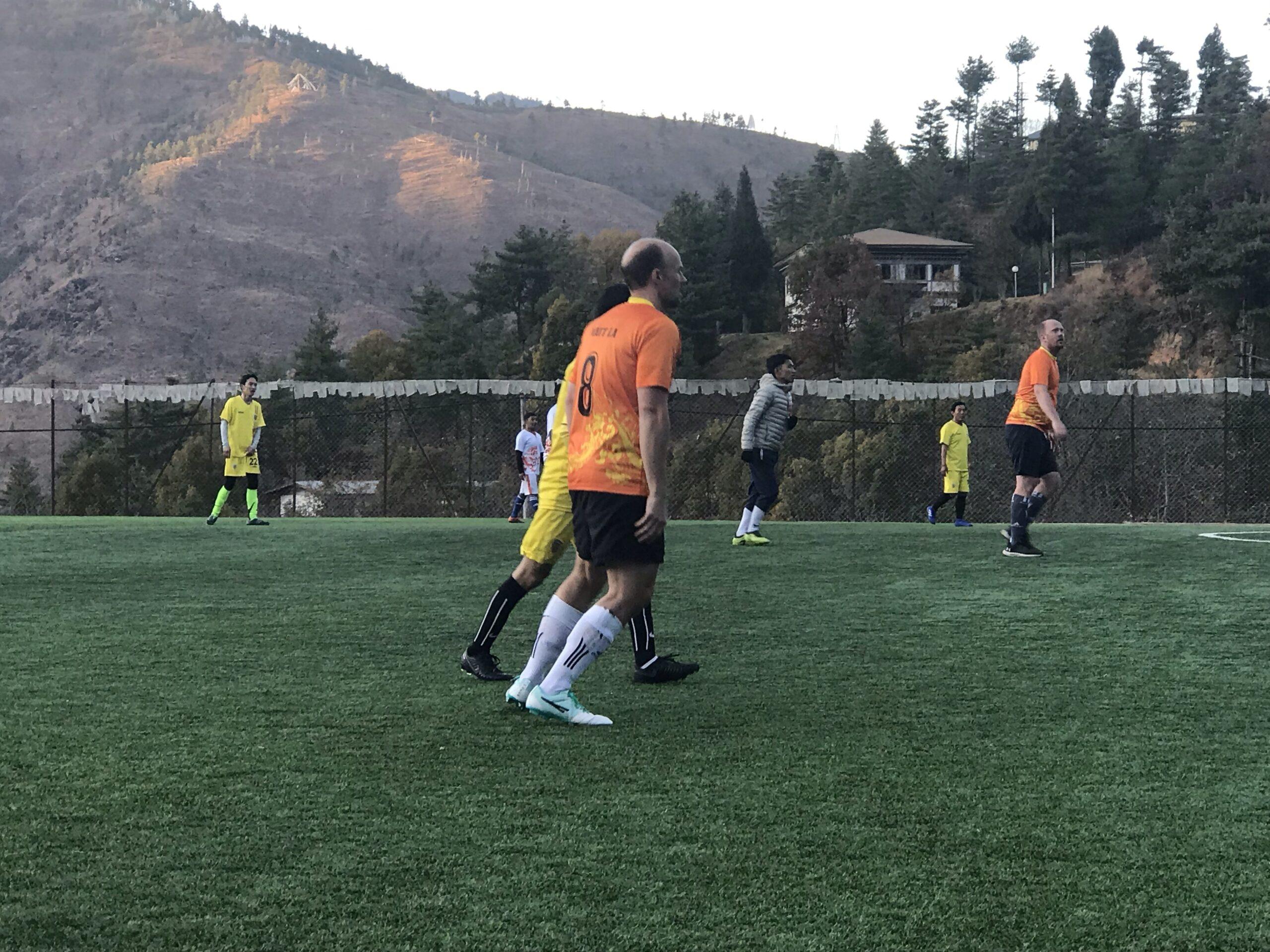 A football match in Bhutan