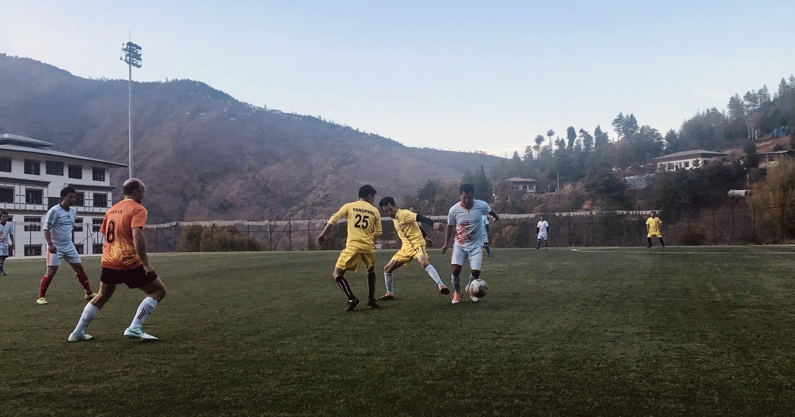 Football match in Bhutan
