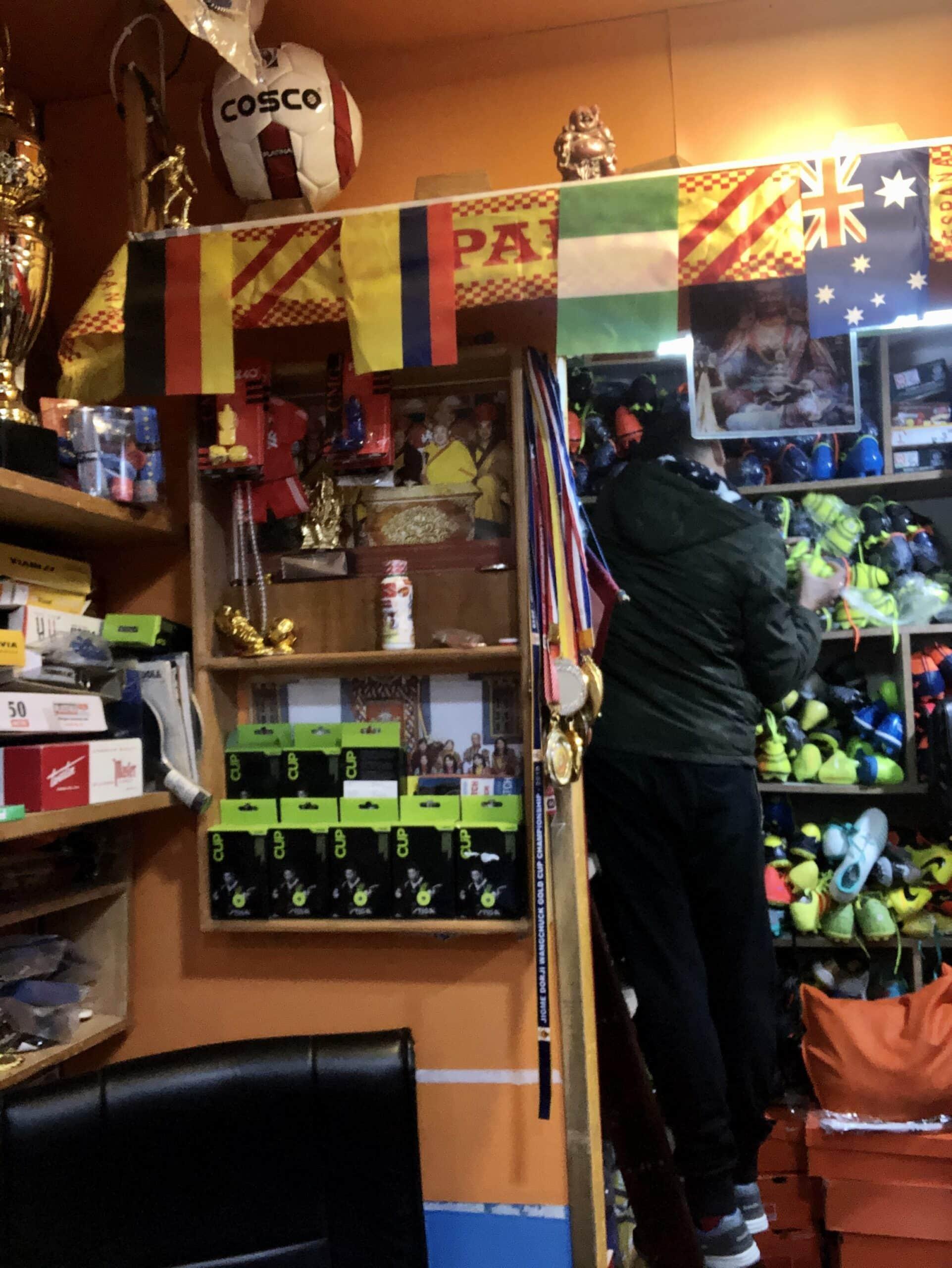 Buying football boots in Bhutan