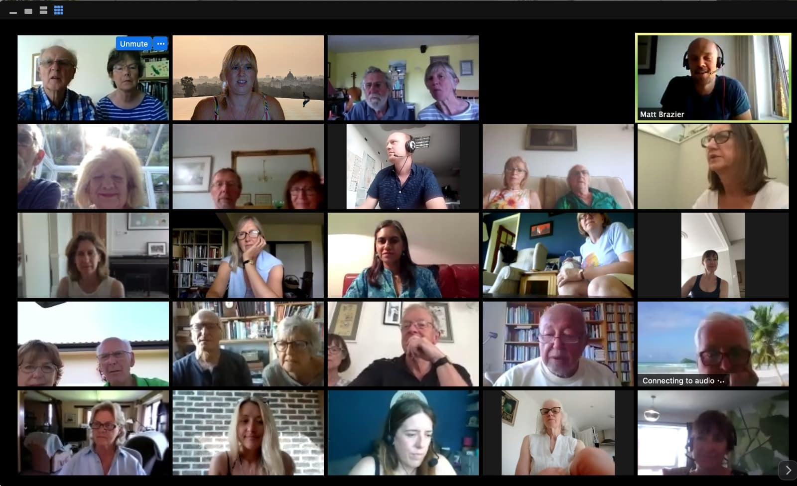 ETG travel community during a virtual event on zoom