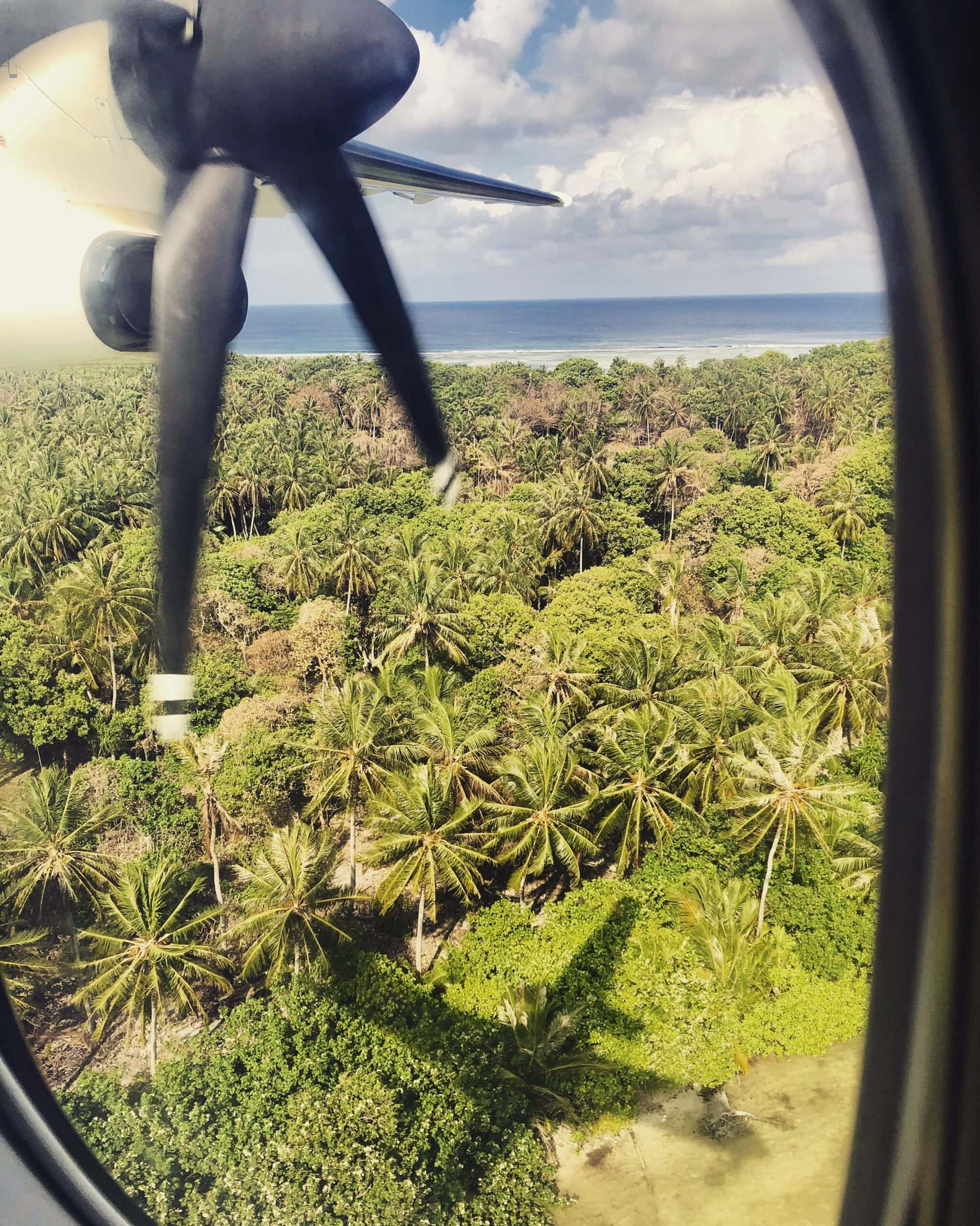 Incredible views as you transfer around the Maldives