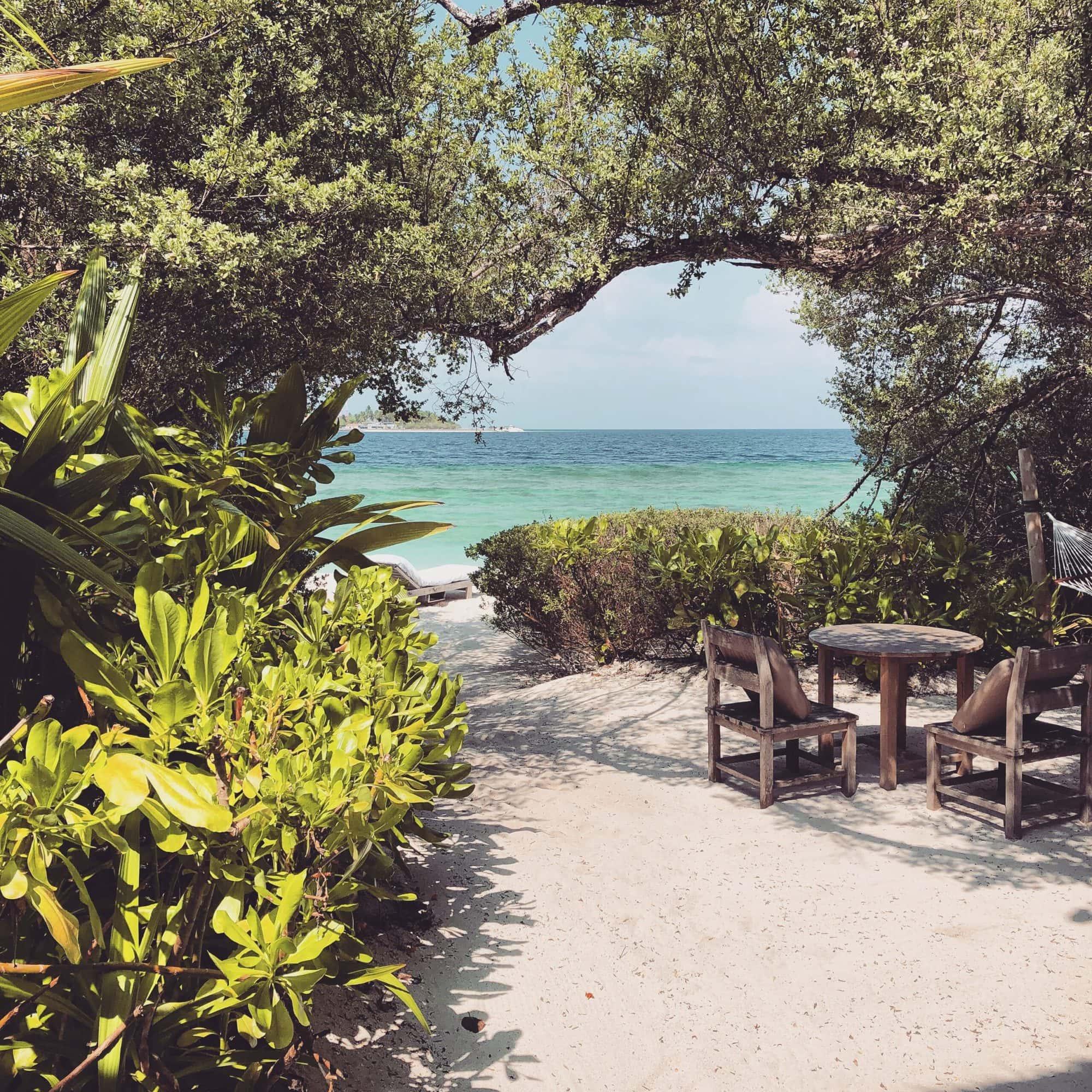 Your own private beach at Soneva Fushi