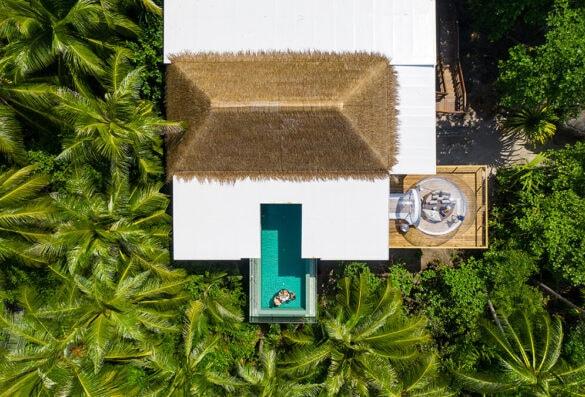 Treetop villa in Amilla resort in The Maldives resort
