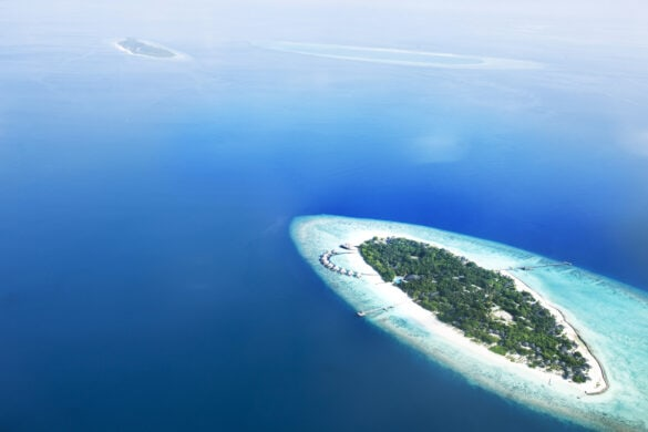 View from above - Private islands in the Maldives
