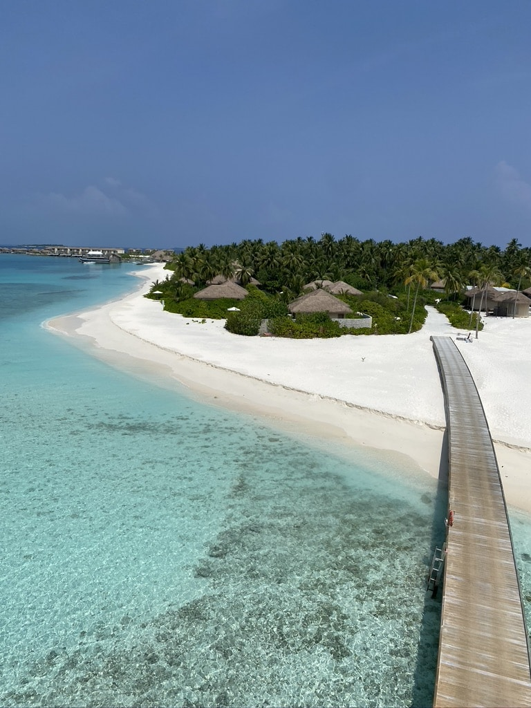 Aeriel view of Intercontinental Maldives