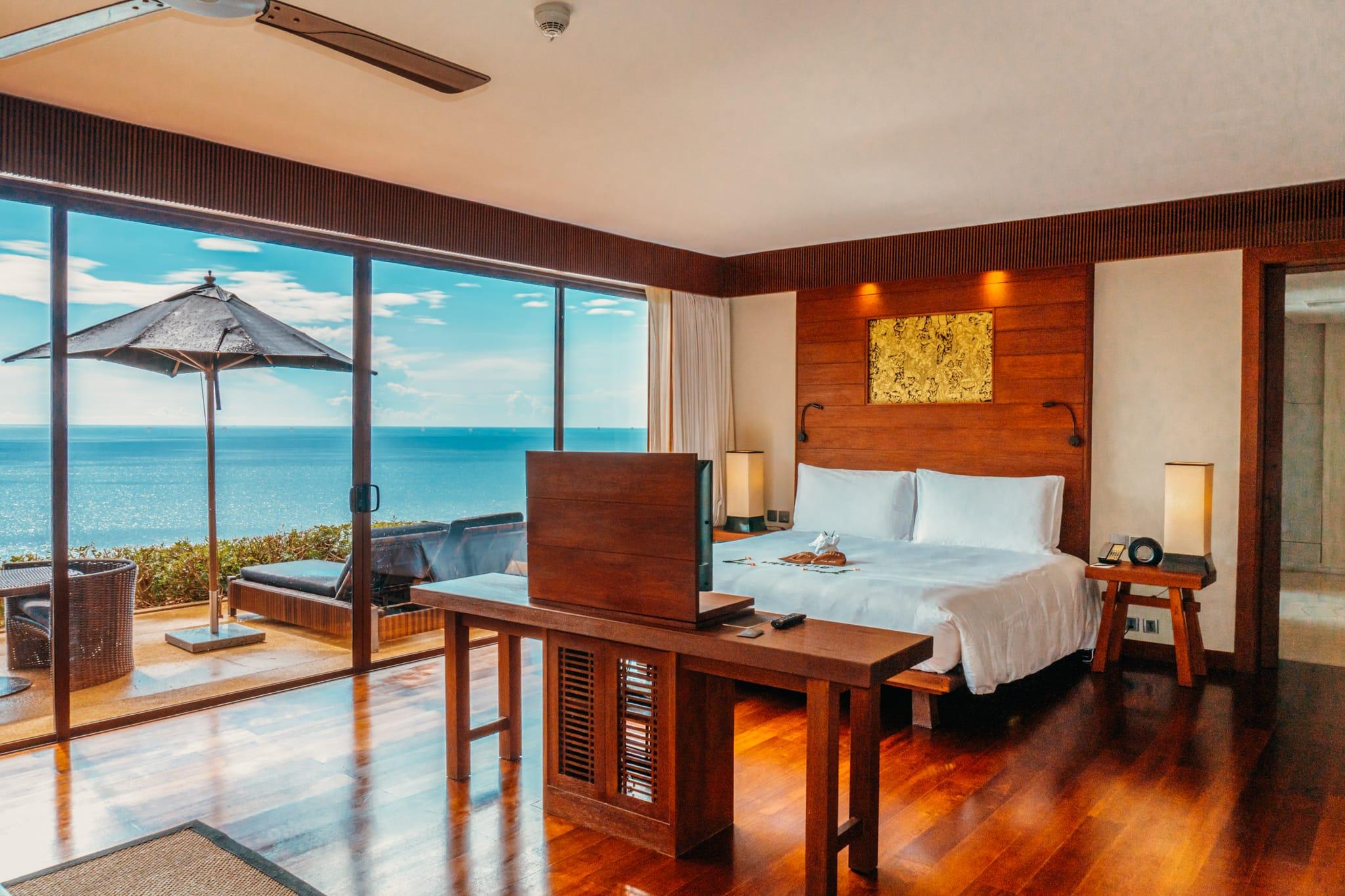 Villa bedroom at Paresa Resort