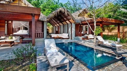 Pool Villas on secluded beaches