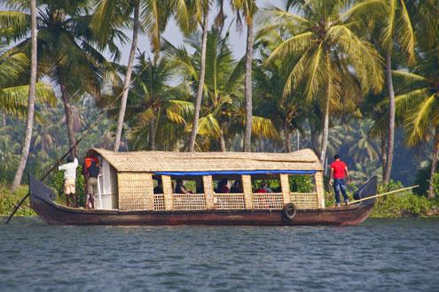 Cruise the Keralan Backwaters