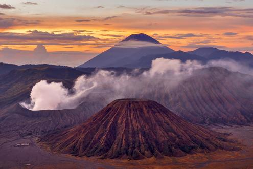 Mount Bromo at Sunset