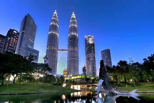 The iconic Petronas Towers