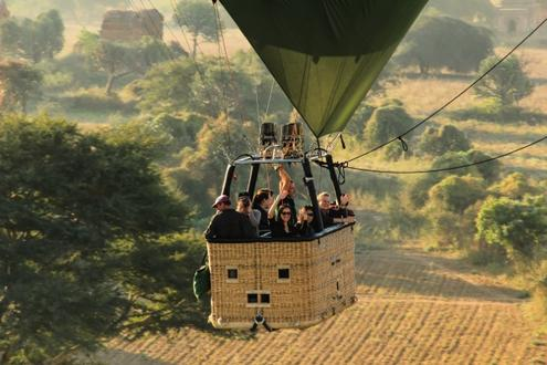 Hot Air Balloon over Pindaya