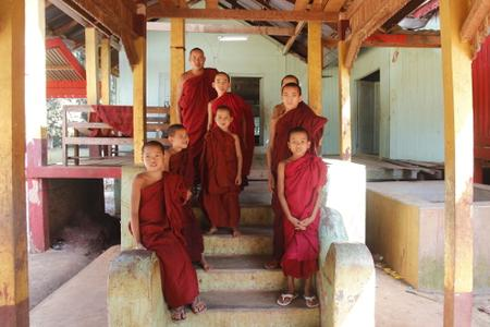 Monks at Hsibaw