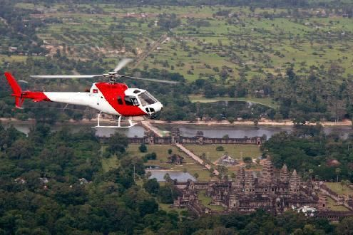 Helicopter Trip Over Angkor