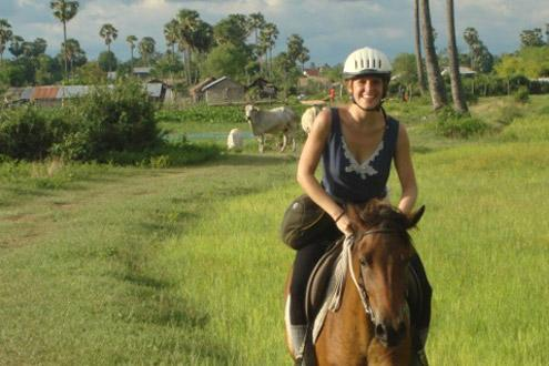 Horse riding in Siem Reap