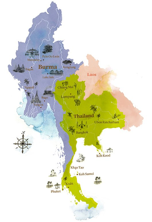 Weather and When to go to Myanmar – Burma Tourist Map