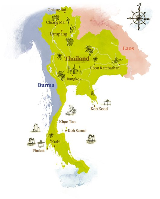 Weather and When to go Thailand – Travel Maps With Weather